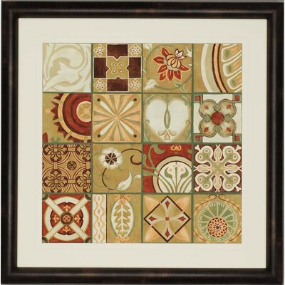 "Paragon Pistachio Patchwork II by Zarris Architectural Art - 45"" x 45"""
