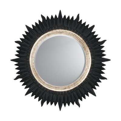 Paragon Black / Silver Starburst Contemporary Wall Mirror
