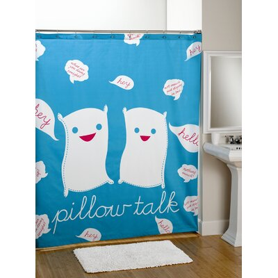 David & Goliath Pillow Talk Cotton Shower Curtain