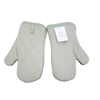 Textiles Plus Inc. Quilted Oven Mitt in Sage Green (Set of 2)