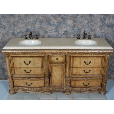 "Global Treasures Caroline 72"" Double Bathroom Vanity"