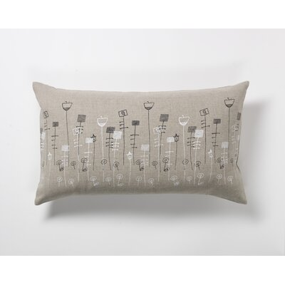 threesheets2thewind Flower Bed Pillow in Black and White