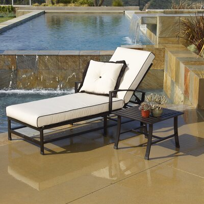 Sunset West La Jolla Chaise Lounge with Cushion
