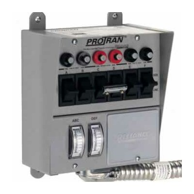 Reliance Controls Pro / Tran Transfer Switch for Generator with 6 Circuit Breaker