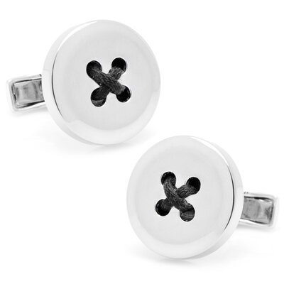 Cufflinks Inc. Sterling Silver Button Cufflinks