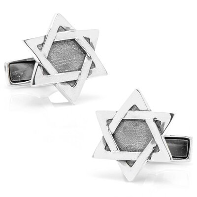 Cufflinks Inc. Sterling Silver Star of David Cufflinks