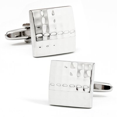 Domed Matrix Square Cufflinks