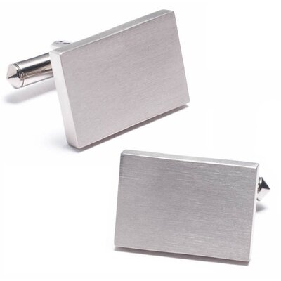 Rectangular Titanium Engravable Cufflinks