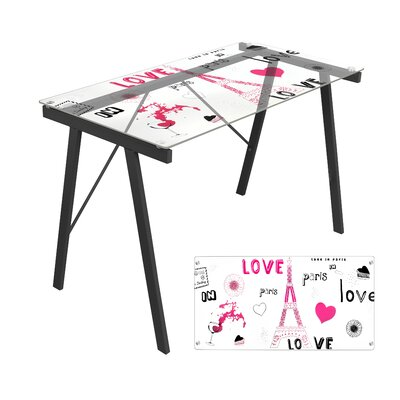 LumiSource Love In Paris Office Writing Desk