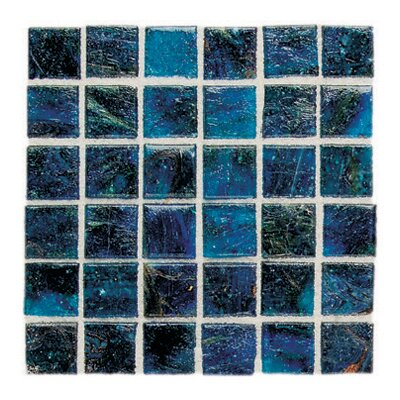 "Daltile Elemental Glass 12"" x 12"" Mosaic Tile in Cornflower"