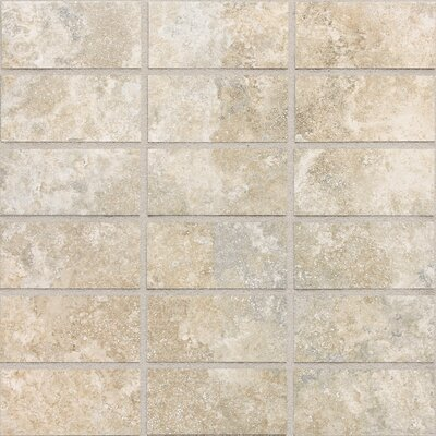 Daltile San Michele 12&quot; x 12&quot; Cross - Cut Mosaic Tile in Crema