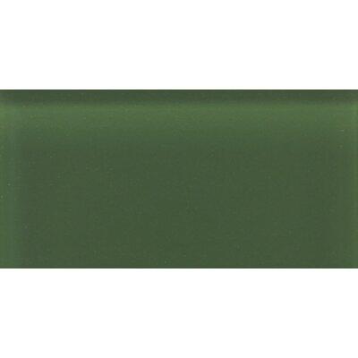 "Daltile Glass Reflections 8-1/2"" x 17"" Glossy Wall Tile in Leafy Green"