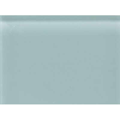 "Daltile Glass Reflections 11 1/2"" x 15 1/2"" Glossy Random Interlocking Accent in Whisper Green"