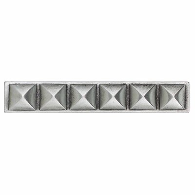 "Daltile Massalia 6"" x 1"" Decorative Pinnacle Accent Strip in Pewter"