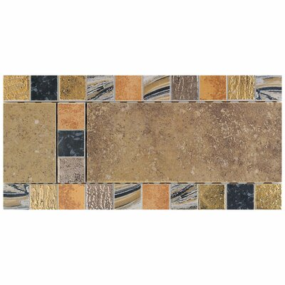 Daltile Terra Antica 6&quot; x 12&quot; Decorative Accent Border in Oro