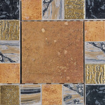 "Daltile Terra Antica 6"" x 6"" Decorative Accent Insert in Rosso"