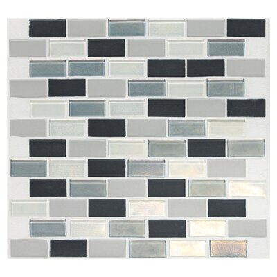 "Daltile Keystones Blends 12"" x 12"" Porcelain with Oceanside Glass Mosaic Tile in Tropical Thunder"