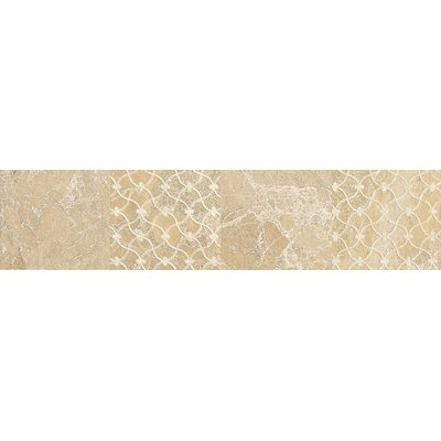 "Daltile Ayers Rock 3"" x 13"" Unpolished Decorative Border in Solar Summit"