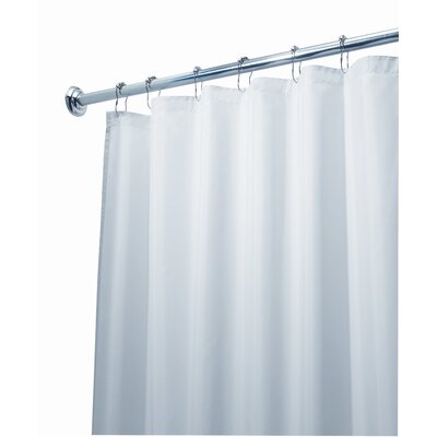 InterDesign Waterproof Shower Curtain/Liner in White