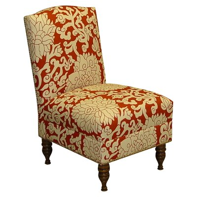 Athens Bittersweet Fabric Slipper Chair