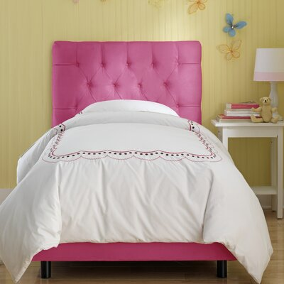 Skyline Furniture Tufted Micro-Suede Youth Bed in Hot Pink