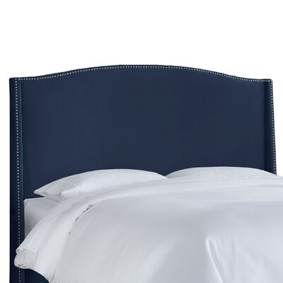 Skyline Furniture Nail Button Velvet Wingback Headboard