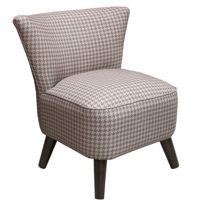 Skyline Furniture Scottie Mid Century Fabric Slipper Chair