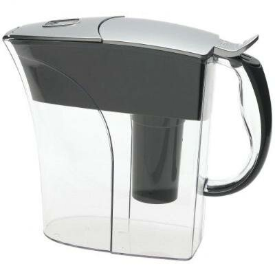 Brita Rivera Water Pitcher in Chrome
