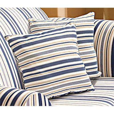 "Sure-Fit Indigo Blue Stripe 18"" Corded Accent Pillow"