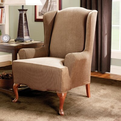 Sure-Fit Stretch Stripe Wing Chair Slipcover