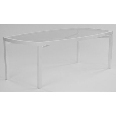 Koverton Eclipse Glass Top Rectangle Dining Table with Umbrella Hole