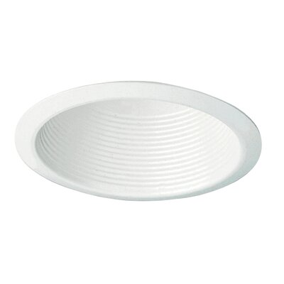 Recessed Housing Trims in White with Cone Baffle Ceiling