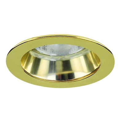 Royal Pacific 4&quot; Specular Cone with Polished Brass Trim Ring