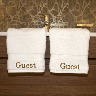 Linum Home Textiles Luxury Hotel & Spa Personalized Hand Towels (Set of 2)