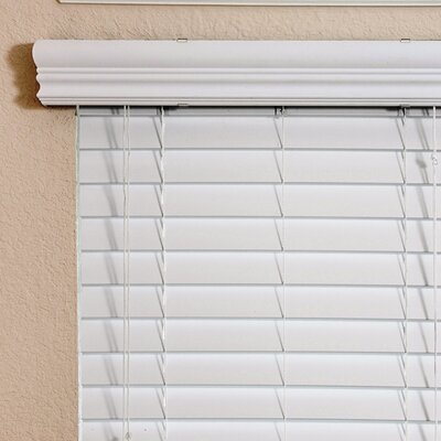 Thermal Insulation Faux Wood Blind in White - 78