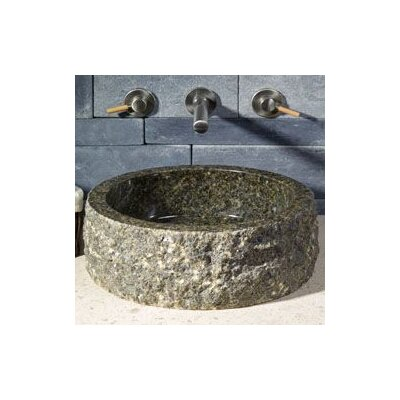 Allstone Group Circular Vessel Bathroom Sink with Broken Edge