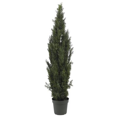 Nearly Natural Mini Cedar Pine Tree in Green