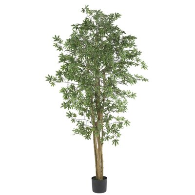"Nearly Natural 72"" Silk Japanese Maple Tree in Green"