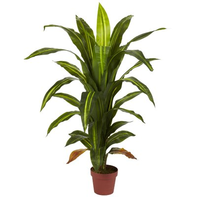 Nearly Natural 4' Dracaena Silk Plant (Real Touch)