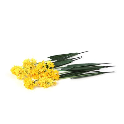 "Nearly Natural 29"" African Lily Stem in Yellow (Set of 12)"