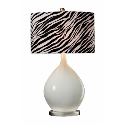 Sterling Industries Ceramic Table Lamp with Zebra Shade