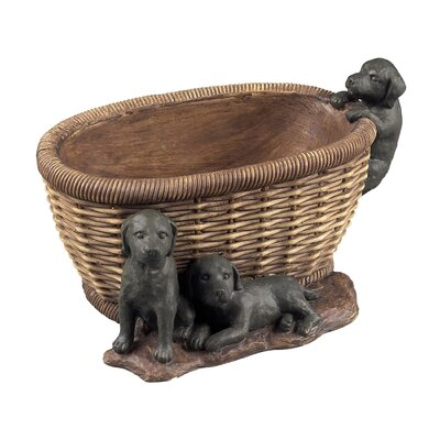 Sterling Industries Puppies in Basket Keep Sake Dish
