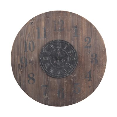 "Sterling Industries 30"" Wooden Clock"