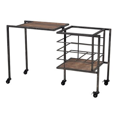 Sterling Industries Iron and Wood Entryway Storage Bench