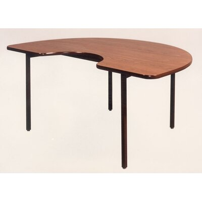 Ironwood Kidney Shaped Welded Frame Table