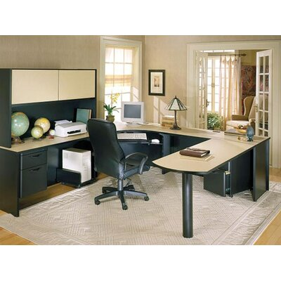 Ironwood Modular U-shape Executive Desk Office Suite
