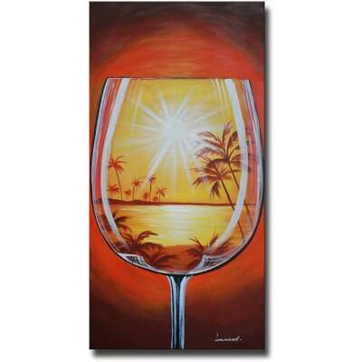 White Walls 'Tropical Glass' Canvas Art