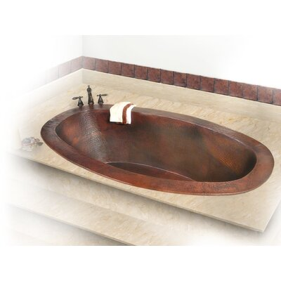 D'Vontz Roberta Large Self-Rimming or Undermount Copper Bath Tub