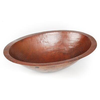 D'Vontz Plain Hammered Copper Oval Undermount Sink