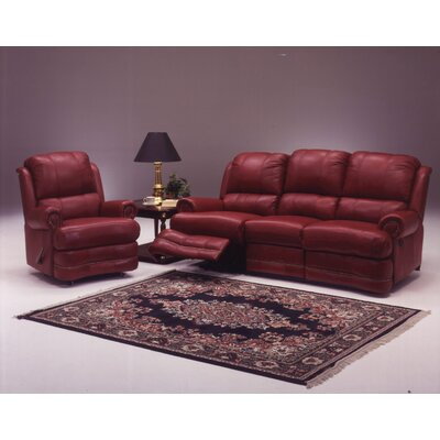 Omnia Furniture Morgan 4 Seat Sofa Leather Living Room Set